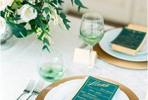 Plum and Emerald Green and gold wedding