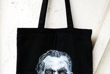 Handmade bag / Ręcznie malowane torby bawełniane.