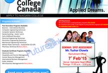 Spot assessment/seminar of Niagara college,Canada / For more information visit:  www.futurelinkconsultants.com