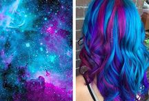 ChEvEux CosmiquE-Galaxy Hair / Cheveux Cosmique-Galaxy Hair-Coloration-Haircolor