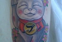 Tattoo - Maneki Neko / Maneki Neko cat (beckoning cats) tattoos