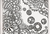 Zentangle Inspiration / Inspiration to my own creations - and to others <3