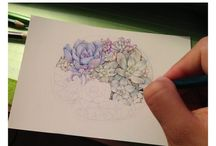 COLOR FLOWER DRAWING