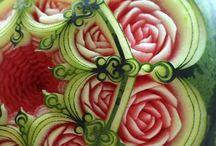 sculptura fructe