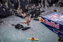 Red Bull Cliff Diving / Red Bull Cliff Diving came to Pembrokeshire in 2016 to Blue Lagoon on the North Coast of Pembrokeshire. Another superb display of the very best high divers in the world.  https://www.fbmholidays.co.uk