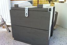 Knutselen / Kist gemaakt van steigerhout