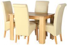 Kent Oak  / These oak veneer Dining tables are perfect for any homes looking for striking contemporary and traditional dining furniture with no fuss. These tables match perfectly with our collection of Kent contemporary dining furniture. Great assemble furniture for any style of your beautiful.