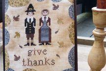 Prim Thanksgiving Stitching