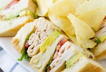 Lunch: Sandwich/Pizza Recipes / Tasty chicken, fish, turkey or other meat sandwiches plus delicious and exciting burger recipes. Toss in a few pizza recipes and you are set for lunch.