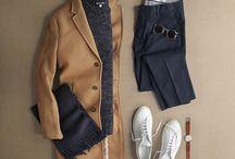 outfit / navyblå bukser