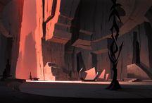 Backgrounds / concepts e ilustraciones de escenarios