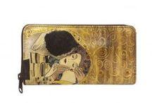 ručne maľované kožené peňaženky