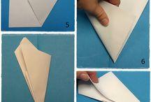 Decoración de invierno con papel