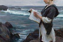 Öljymaalauksettytto ja meri