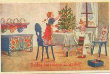 régi magyar karácsonyi képeslapok