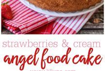 Angel cake / La torta degli Angeli di soli albumi