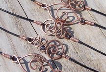 Wire and copper jewelry