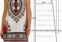 African pleated dress