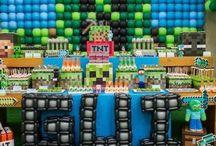 Como hacer una fiesta de Minecraft
