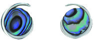 Paua Shell Jewellery - Silver Earrings / Ariki New Zealand Jewellery - Sterling Silver collection of Earrings and Pendants.