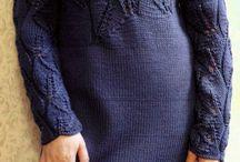 Платье вязанок