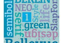 Green Fonts |  Typografie / Green Fonts, Typografie, Green Design