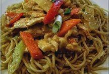 kínai csirkés zöldséges tészta