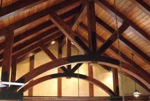 Inspiration / Whoever built these structures didn't use our plates but we sure like the cut of their jib. These are all fantastic examples of the beauty of steel plates in a timber framed structure.
