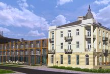 Pokoje & Apartamenty   Rooms & Suites / Każdy szczegół  zarówno w zabytkowej  jak i nowoczesnej  części  obiektu  został  zaprojektowany  z  wyjątkową  dbałością,  a obecność dzieł sztuki tworzy niepowtarzalny klimat.