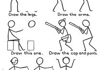 Drawing actions / easy drawings of people doing actions