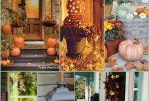 Fall Porches / It's that time again...fall porches are popping up everywhere! With only a few autumnal elements you can easily put together a warm fall welcome.