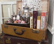 Old luggage, hat boxes