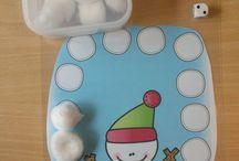 (Maternelle) Hiver (période 3) / idées d'activités et de décos autour du Bonhomme de neige  et de l'hiver (pour mon travail en maternelle)