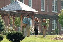 Beautifully Landscaped Campus / Landscaping enhances the appearance of the 3.5 acre campus.  The area in front of the Main Building consists of a lawn with large, mature trees, a flower garden around the marble ASL sign, a lighted fountain in the cement walk leading to the front entrance of the Main Building, and outdoor benches near and under the trellis area.  Students and faculty, as a community service project, planted over 300 flower bulbs, over fifty perennial mums, and 50 trees on the grounds.  / by Appalachian School of Law