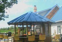 Slate Blue Metal Roofing