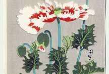 Japanese art flowers