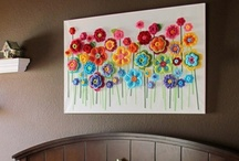 crochet on canvas