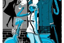 Girl and Skooter / Illustration