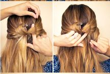 Hairstyles / Easy hairstyles for school, work, home or outings. They are easy and anyone can do them!