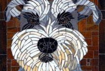gatos perros mosaico