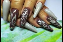 my nails, my work