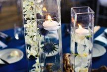 bougies flottantes bleues