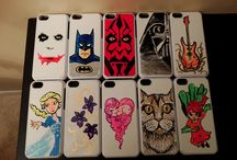 Painted Cell Phone Cases / Because everyone needs a unique case on their cell phone.
