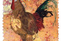 Marcia McKinzie Art Watercolor Batik Prints