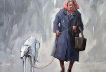 Art of greyhounds