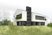 Single family house concept, Gdańsk Karczemki district, Poland