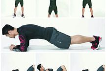 Abs circuit training / Overhead sideband 20 rep Plank 30sec Crunch 15rep   3set