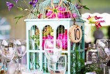Bird cage centre piece