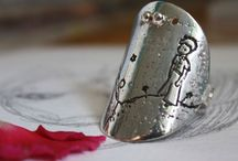 the little prince / the little prince theme, sterling silver jewels, inspired by Saint Exupery's children book