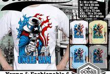 Kaos Tengkorak Vintage | Skull Vintage T-shirt